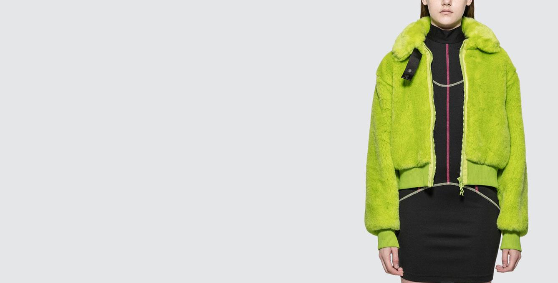 Smile Jac Fur Collar Bomber Jacket