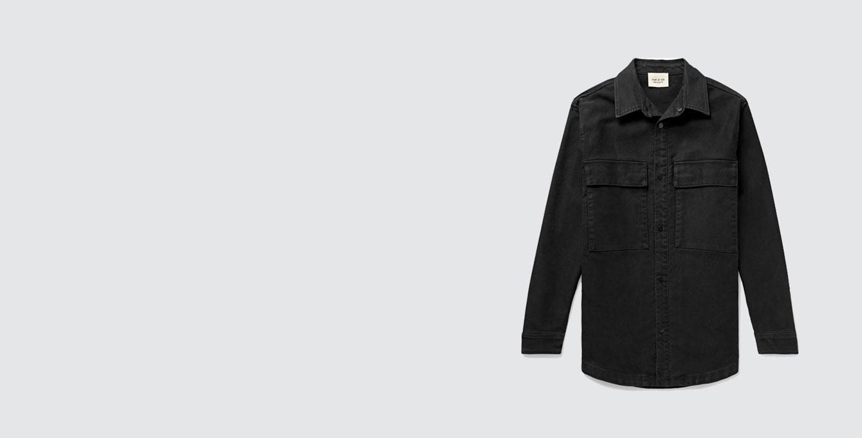 Cotton-Canvas Shirt Jacket