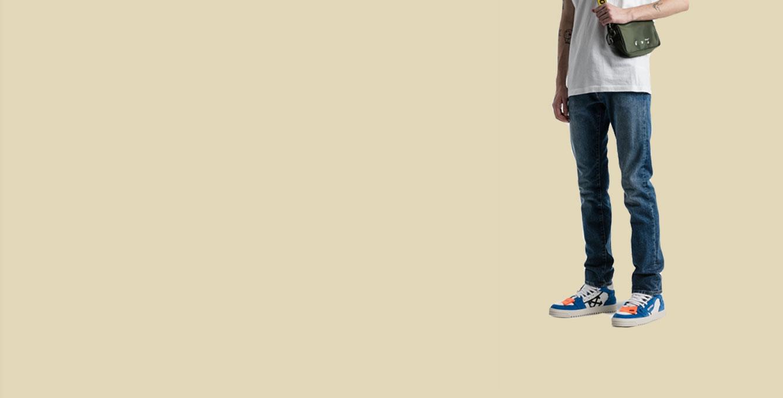 Stripe Wash Denim Jeans