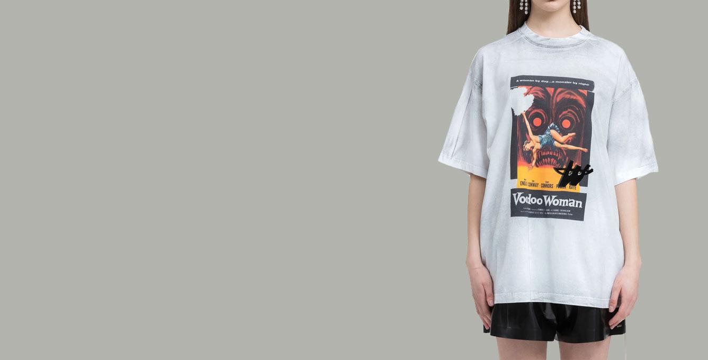 WE11DONE White Horror Movie T-shirt