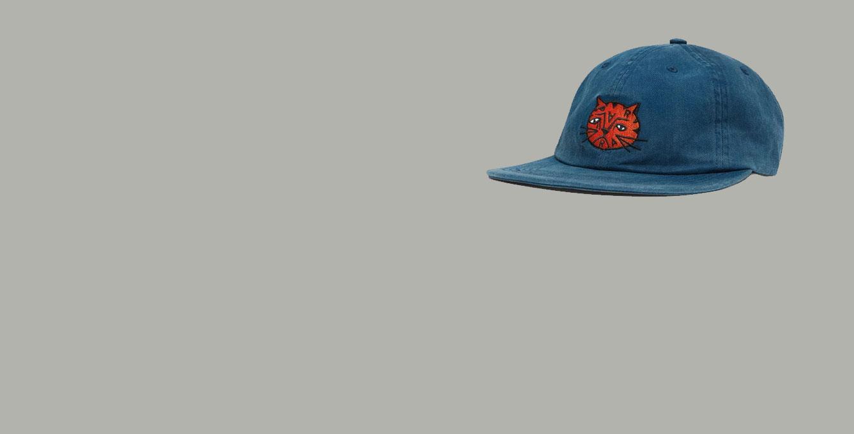 by Parra Sad Cat 6 Panel Hat